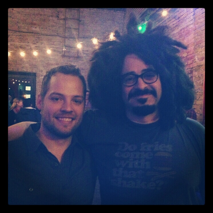 Tyler Stenson and Adam Duritz